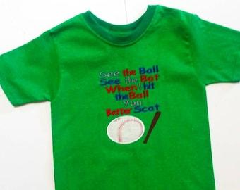 Boys Baseball Shirt - Kids Baseball Shirts - Sports Shirt - Baseball Gifts - Baseball Shirts - Personalized Shirt - Personalized Sports