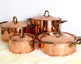 Vintage Paul Revere copper pot...1801 Paul Revere copper stockpot...3 quart stockpot.