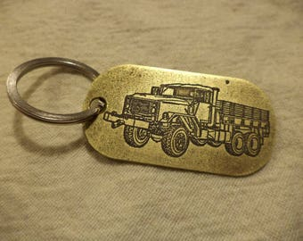 M925A2 Etched Brass Keychain