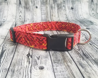 Fun Red Optical Illusion Dog Collar