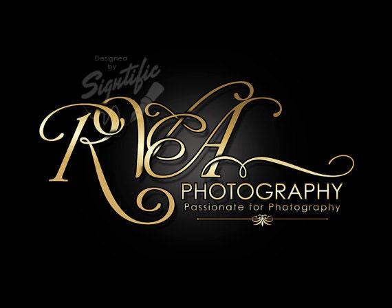 Photography Logo, Custom Photography Logo Design, Creative Gold Logo, Business Name Logo, Photographer Logo, Intertwined Lettering Logo