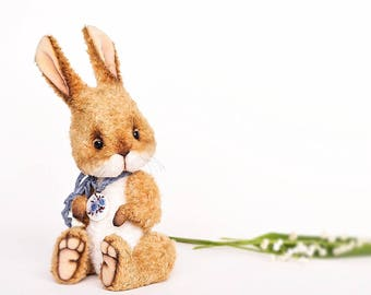 Teddy Bear toy artist bunny rabbit toy plush bunny stuffed bunny animal Easter rabbit toy  OOAK Teddy Bear stuffed animal toy Easter decor