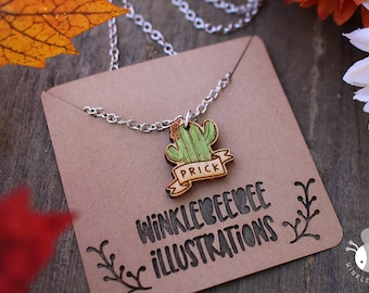 Feeling Prickly - Laser Cut Wooden Necklace