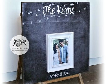 Rustic Wedding Guest Book, Alternative Guest Book, Wedding Guest Book, Guest Book Frame, Wood Guest Book 20X20 100 to 150 Signatures