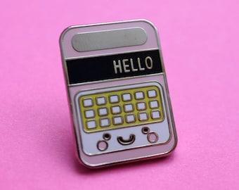 Speak and Spell Retro Toy Cute Kawaii Enamel Pin Badge - Tie Pin - Lapel Pin - Flair - Brooch