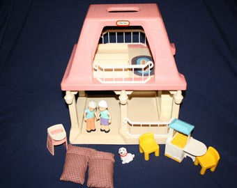 Complete Little Tikes Doll House Pink Grandmau0027s House With Pink Roof  Furniture Peoples