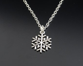 Snowflake Necklace, Snowflake Charm, Snowflake Pendant, Snowflake Jewelry, Winter Necklace, Winter Jewelry, Snow Necklace, Snow Pendant