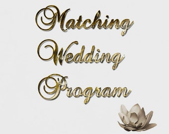 Matching Ceremony Wedding Program Printable