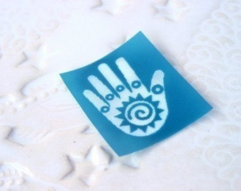Beadcomber Silk Screen - Friendship or healing hand design silkscreen for polymer clay and crafts and DIY