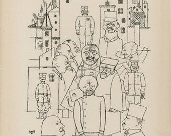 """GEORGE GROSZ (German, 1893-1959), """"Er hat Hindenburg Verspottet"""", 1920, original lithograph"""