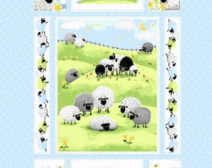 SUSYBEE LEWES LAMB, Meet Lewe The Ewe Cotton Fabric Panel 36 x 45 bu Susybee for Henry Glass