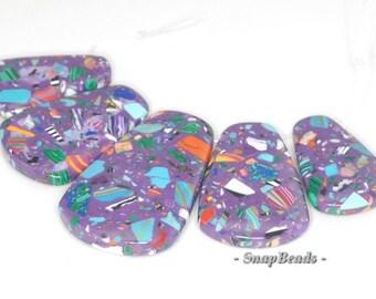 Matrix Turquoise Gemstone Loose Beads Graduated Set 5 Beads (90114099-108)