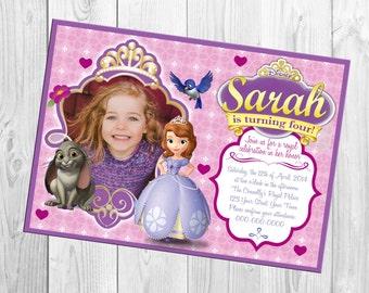 Sofia The First Photo Birthday Invitation