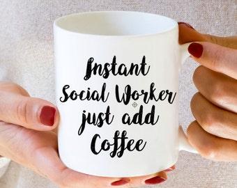 Social Worker mug, funny, dishwasher safe