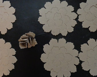 Sizzix die cut Jumbo tattered pine cone pieces.  Chipboard, any occasion, scrapbooking, multimedia, crafts, Tim Holtz