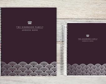 Address Book, Personalized Address Book, Contacts Book, Telephone and Address book, Custom Address Book - scalloped edge