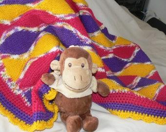 Funky Baby Blanket PDF Knitting Pattern