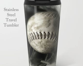 Softball Coffee Tumbler-Stainless Steel Travel Mug-Coffee Mug-15 oz Tumbler-Softball Coffee Tumbler-Insulated Travel Mug-Personalized Mug