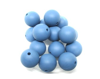 10 15mm - Niagara blue Silicone beads