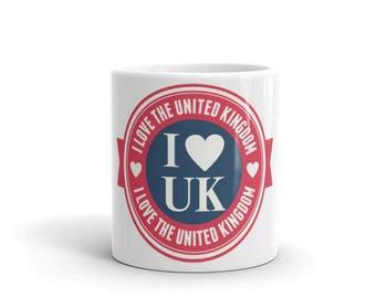 I Love the UK Mug