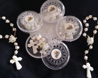 First Communion Favors, First communion Mini Rosaries, Baptism Favor, Girl Baptism, First Communion Girl Favor, First Communion Boy Favor