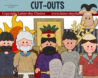 Abinadi and King Noah Cut-outs