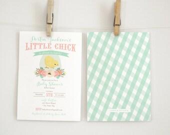 Little Chick Girl Baby Shower Invitation