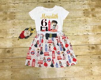 London Birthday Outfit, London Tutu, Personalized London Outfit, London Dress, London Personalized Shirt, 1st Birthday, London Birthday
