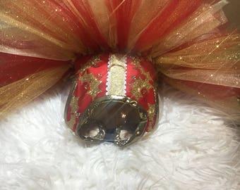 Dog Dress Christmas- Designer Dog Dress Holiday- Designer Dog Harness Dress-Dog Tutu-Designer Dog Dress-Red Dog Dress-Couture Dog Dress-Cute