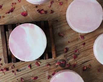 Wild Rose Salt Bars // Spa Bars // Cold Process Soap // Sea Salt Soap
