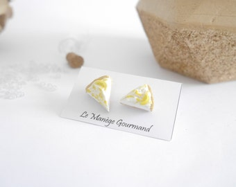 Lemon meringue pie earrings