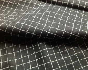 Fabric black coal grey white checkered Cotton Fabric Kids Fabric Scandinavian Design Scandinavian Textile