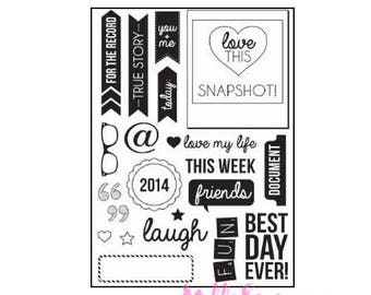 KAISERCRAFT acrylic stamp, stamp scrapbooking clear stamp