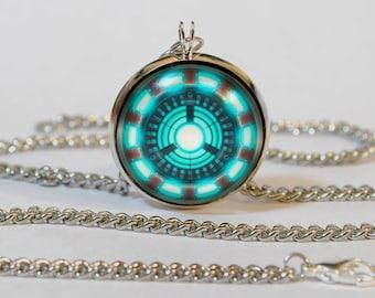 Handmade Ironman Arc Reactor Remade Pendant Necklace