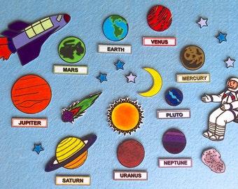 Space Adventures - Solar System Felt Board Set- Planets