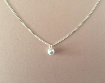 Pearl Bridesmaid Necklace Gift