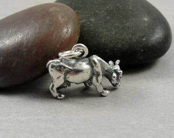 Cow Charm - Sterling Silver Cow Charm for Necklace or Bracelet