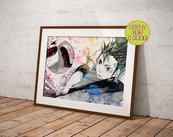 Haikyuu, Anime print, Haikyu, Anime Art, Anime Poster, Anime gifts, Anime gadgets, Anime Watercolor, Manga Art OC-151
