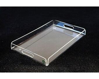 "LUCITE TRAY 20"" NeW Plexi-Art Designs Serving Acrylic Office Tray Desk Organizer Centerpiece Mid Mod Mid Century 3"
