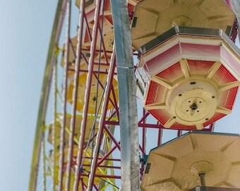 Ferris Wheel Photo, Fair Photography, Digital Download, Carnival Ride Photo, Retro Home Decor, Ferris Wheel Download, Instant Download