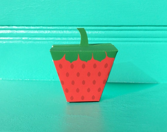 Strawberry Favor Boxes DIY Printable File Craft