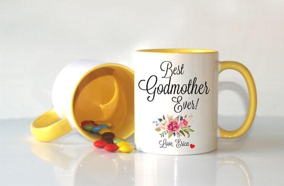 Godmother Gift Godson Gift Long Distance Gift: Godmother Gift Godmother Mug Baptism Gift Christening Gift