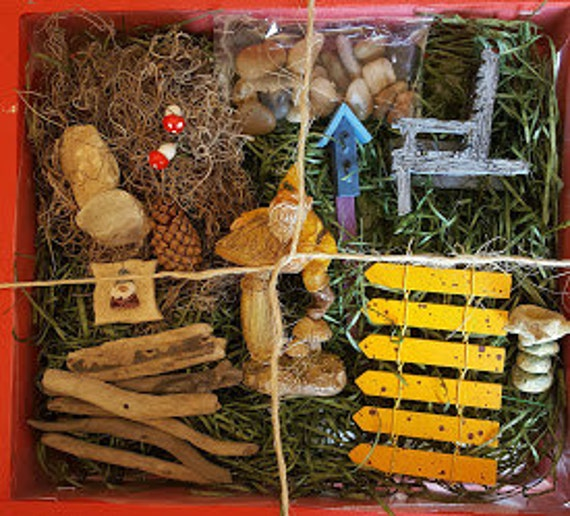 Eddie OR Freddie Gnome Fairy Garden Kit - (Plants and Soil not Incl) Choose one Gnome