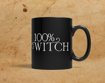 100% Witch, Black Mug