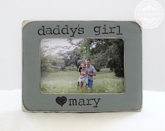 Dad Frame Gift from Daughter Father Daughter Personalized Picture Frame Daddy's Girl Frame