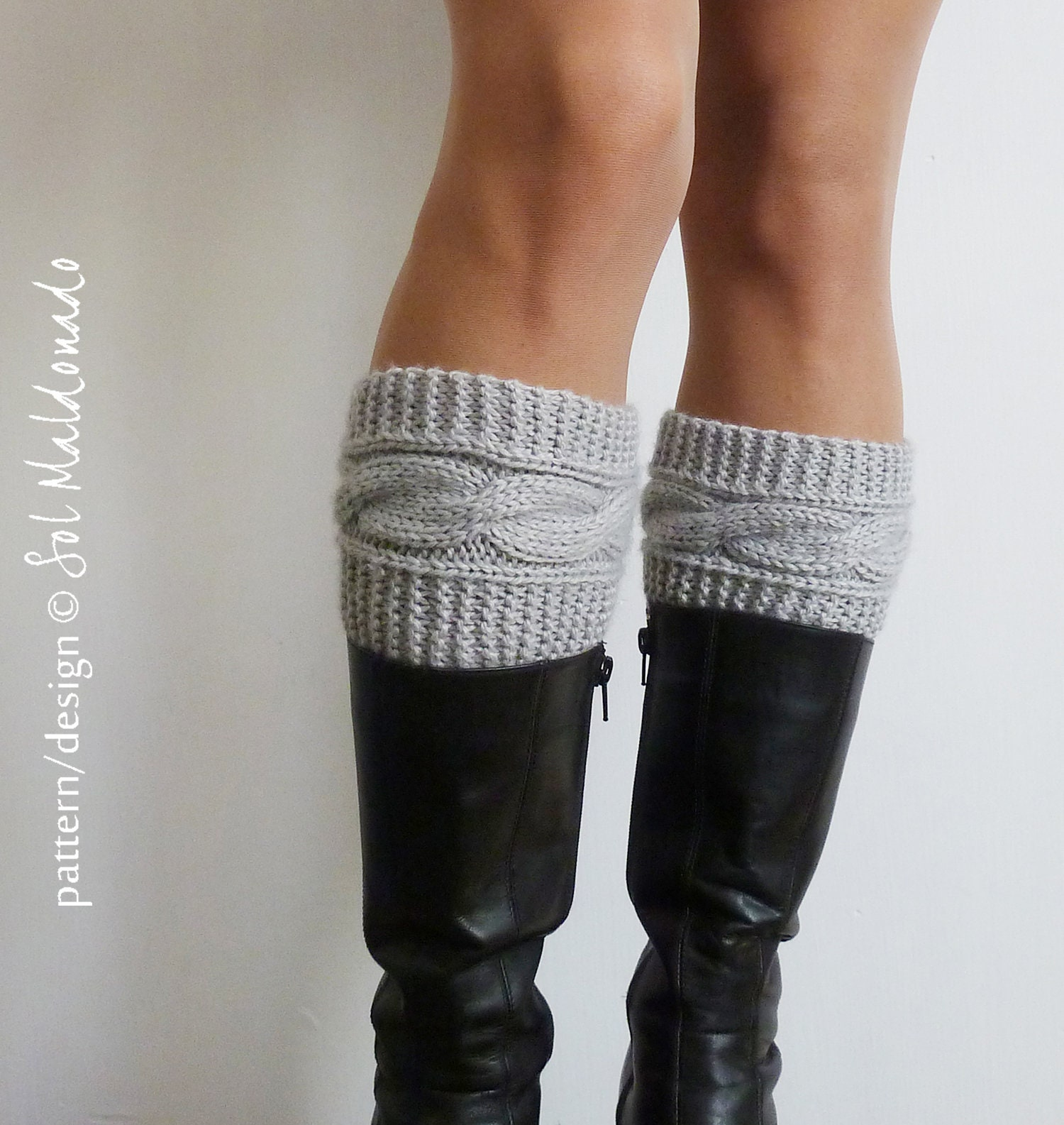 Magnificent Boot Topper Knit Pattern Component - Sewing Pattern for ...