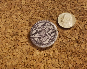 Ptolemaic Armillary Sphere - 1.25in pinback button