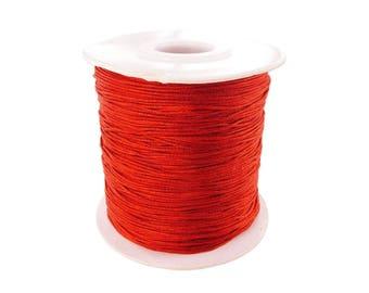 0.5, 0.8 mm or 1 mm - 10 m Nylon string Red
