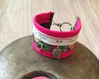 Floral hand made Cuff Bracelet