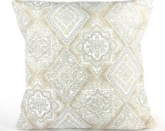 Taupe Gray Tan Throw Pillow COVER Ecru Decorative Cushions Couch Sofa Pillow Bedding Sham ALL SIZES Beach Cottage Pillow Ecru Patio Cushion